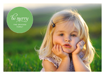 Green Bubble Holiday Photo Card