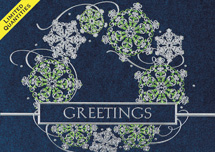 Vibrant Wreath Holiday Cards